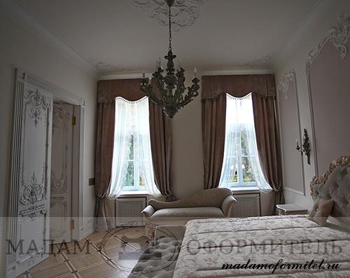 Классические шторы из бархата, шторы на заказ, шторы от частного дизайнера, пошив штор на заказ СПб, пошив штор в Санкт-Петербурге,
