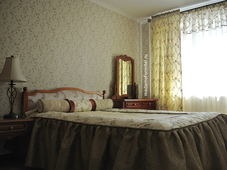 Оформление спальни английского стиля