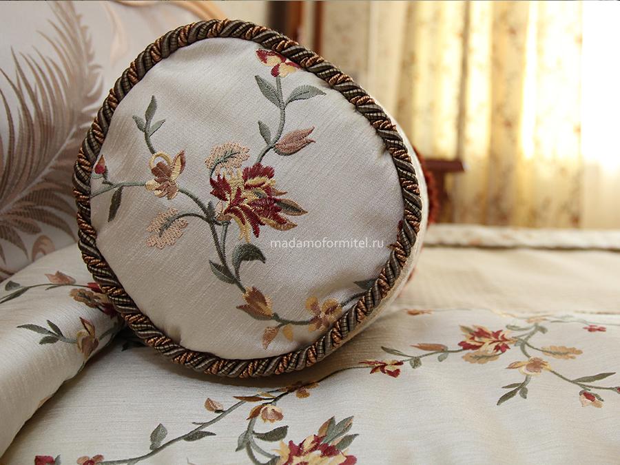 шторы от Мадам Оформитель, шторы с кантом, пошив штор в Санкт-Петербурге, пошив штор Спб, покрывало на кровать, пошив покрывал, оформление спальни, декоративные подушки