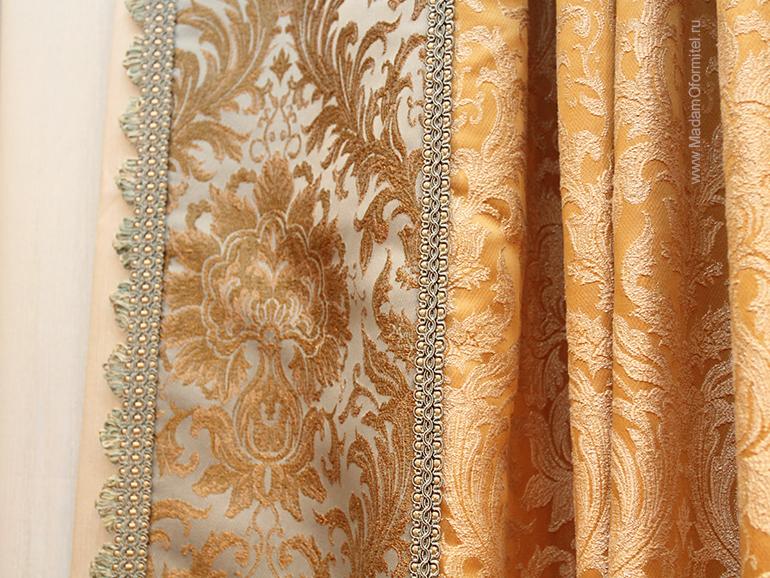 шторы от Мадам Оформитель,  пошив штор в Санкт-Петербурге, пошив штор Спб, шторы в гостиной