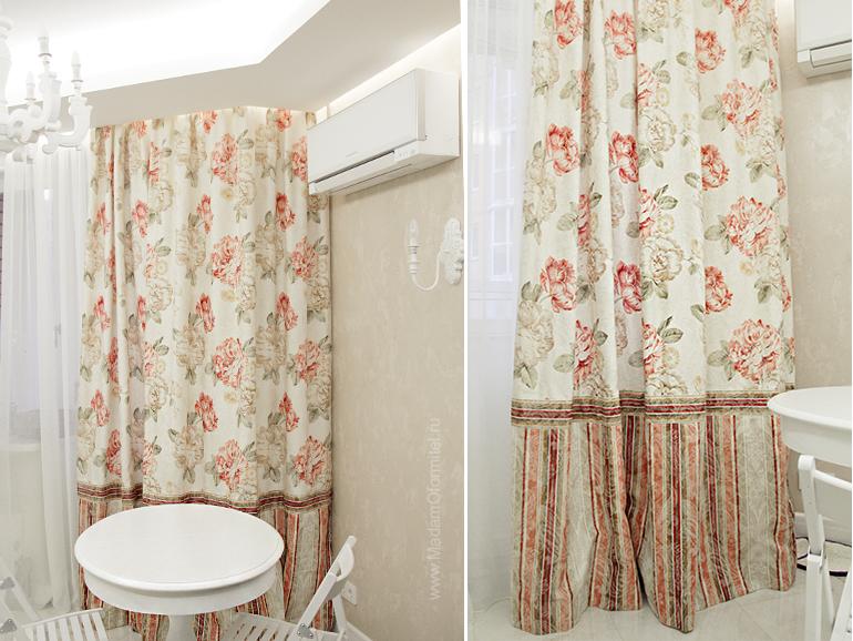 шторы от Мадам Оформитель,  пошив штор в Санкт-Петербурге, пошив штор Спб, шторы в гостиной, шторы в стиле Прованс