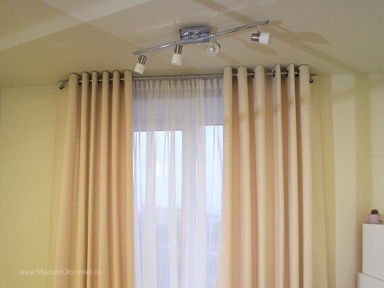 шторы от Мадам Оформитель, шторы с кантом, пошив штор в Санкт-Петербурге, пошив штор Спб,  шторы на люверсах