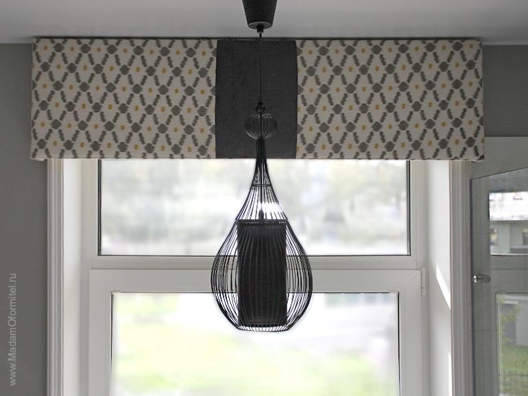 жесткий ламбрекен, ламбрекен на каркасе, ламбрекен на деревянной основе, пошив штор в Спб, пошив штор от Мадам Оформитель, шторы с ламбрекеном