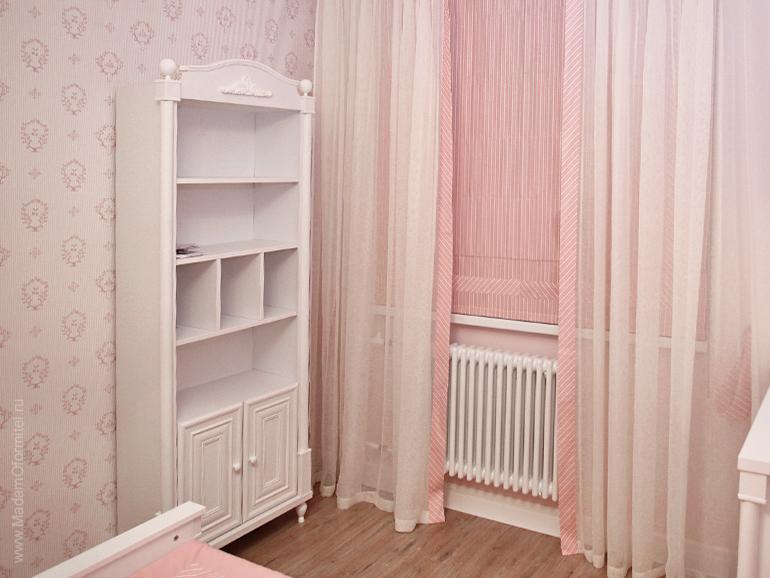 Оформление детской комнаты для девочки, шторы в детской, комната маленькой принцессы, покрывало в детскую