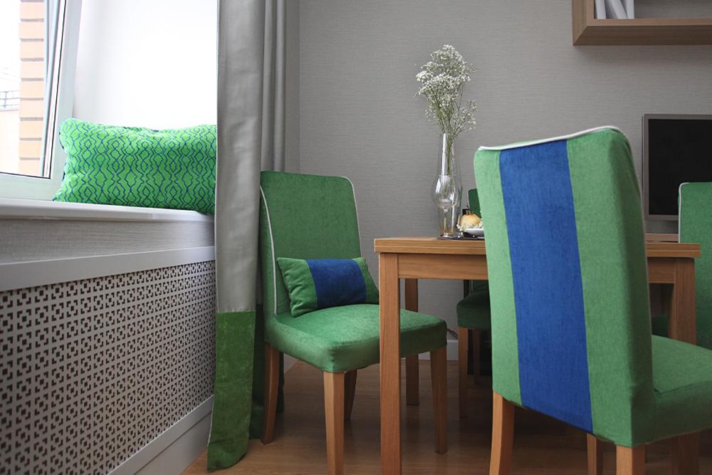 шторы на люверсах Color Block, дизайнер интерьера, визуализация, дизайнер в СПб, дизайнер Питер, дизайнер интерьеров спб, дизайн-проект квартиры, зеленый в интерьере
