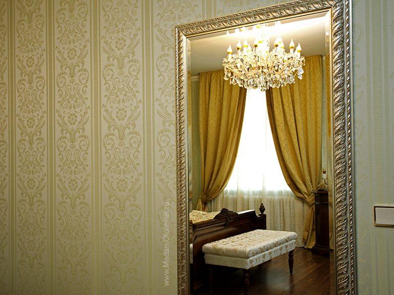 классические шторы, жаккард, шторы из бархата, шторы на подкладе, шторы в спальню, шторы с подхватами, пошив штор на заказ, шторы от Мадам Оформитель
