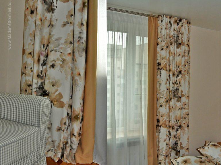 светонепроницаемые шторы, шторы блекаут, хлопковые шторы, шторы от Мадам Оформитель, пошив штор на заказ в СПб, шторы в спальне