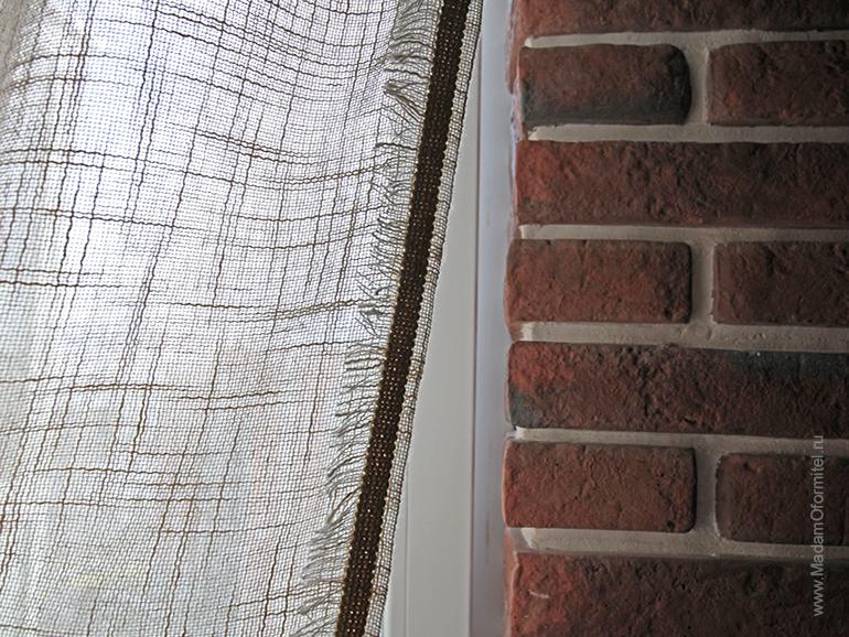 шторы из льна, льняные шторы, шторы от Мадам Оформитель, шторы на кухню, совмещенную с гостиной