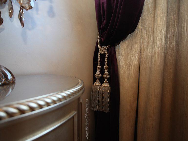 бархат и золото, шторы в спальне, шторы на заказ, шторы от Мадам Оформитель, пошив штор на заказ, шторы в спальню, пошив штор в Санкт-Петербурге, пошив штор, шторы в спальне, шторы в гостиной, шторы из бархата, бархат, дорогие шторы