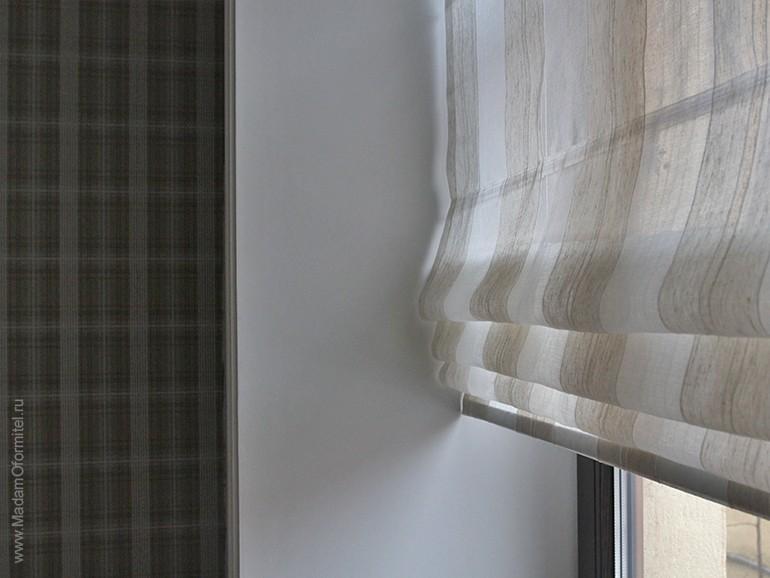 римские шторы, шторы от Мадам Оформитель, пошив штор на заказ в СПб, римские шторы из тюля, шторы в мужской спальне, шторы для мужчин, спальня холостяка, шторы в мужской кваритре