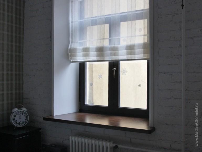 римские шторы, шторы от Мадам Оформитель, шторы в мужской спальне, пошив штор на заказ в СПб, римские шторы из тюля, шторы в мужской спальне, шторы для мужчин, спальня холостяка, шторы в мужской кваритре