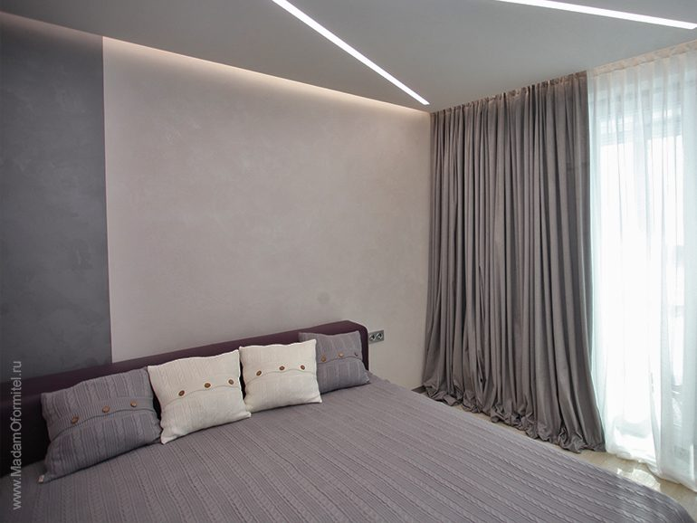 Серые шторы в интерьере, пошив штор на заказ, пошив штор от Мадам Оформитель, шторы в гостиную, шторы на заказ в Спб, шторы в спальню