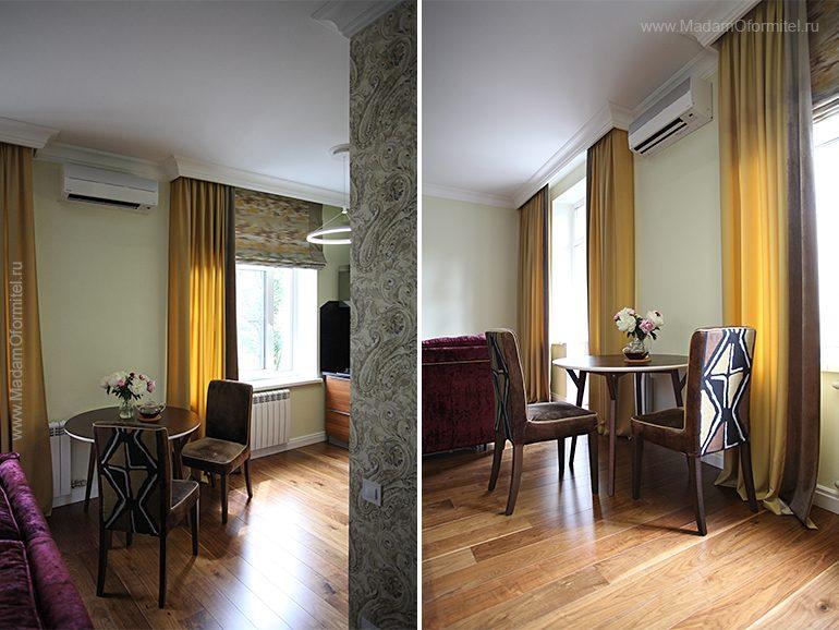 шторы в гостиной, пошив штор в СПб, шторы на заказ, шторы от МадамОформитель, римские шторы, шторы с бархатом, дорогие шторы, пошив дорогих штор, шторы для кухни совмещенной с гостиной