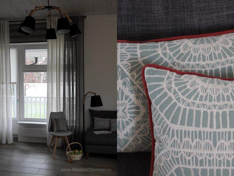 шторы в гостиной, пошив штор в СПб, шторы на заказ, шторы от МадамОформитель,  пошив дорогих штор, шторы для кухни совмещенной с гостиной,  Гостиная в скандинавском стиле, скандинавский стиль