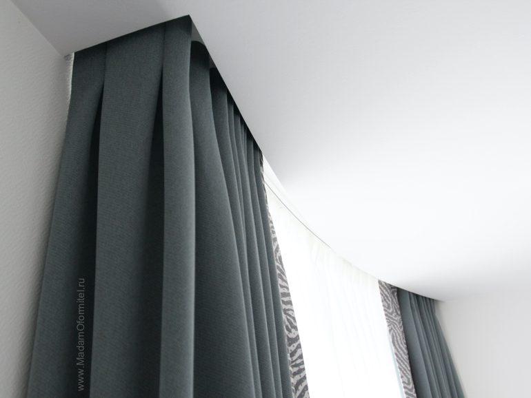 шторы в спальню, шторы в спальне, шторы от МадамОформитель, шторы блекаут, пошив штор в СПб, шторы на заказ СПБ